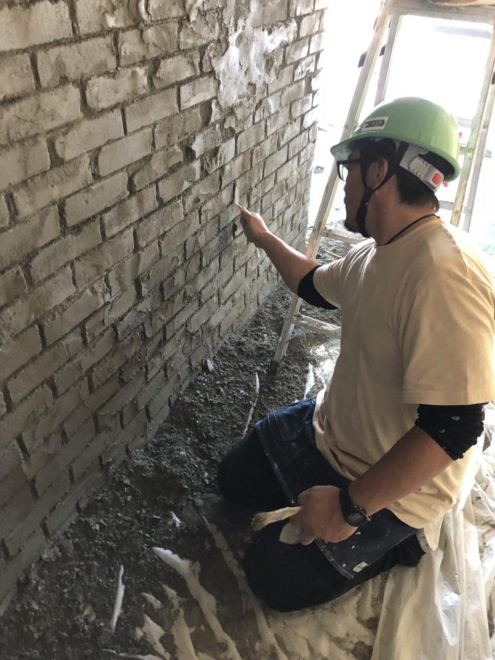 デザインコンクリート モルタル造形 レンガ